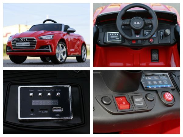 Masinuta electrica Audi S5 Cabriolet 2x35W CU ROTI MOI 12V #Rosu 9