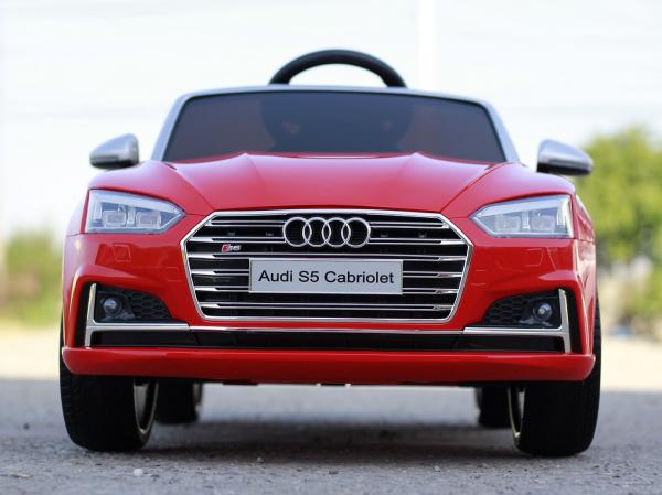 Masinuta electrica Audi S5 Cabriolet 2x35W CU ROTI MOI 12V #Rosu 1