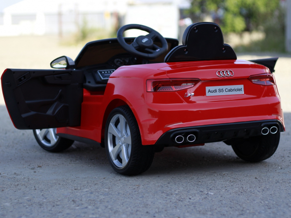 Masinuta electrica Audi S5 Cabriolet 2x35W CU ROTI MOI 12V #Rosu 5