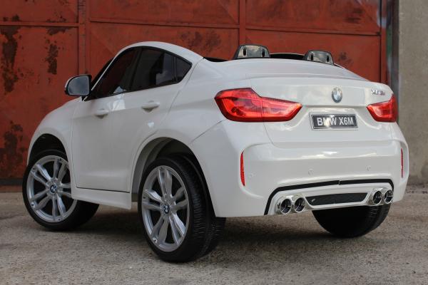 Masinuta electrica BMW X6M 12V XXL PREMIUM #ALB [4]