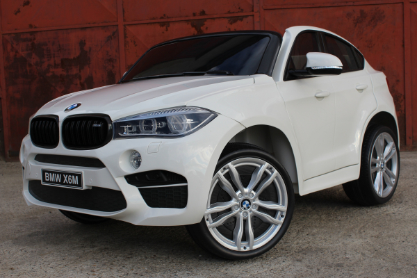 Masinuta electrica BMW X6M 12V XXL PREMIUM #ALB [2]