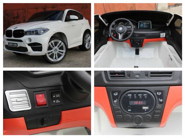 Masinuta electrica BMW X6M 12V XXL STANDARD #Alb 6