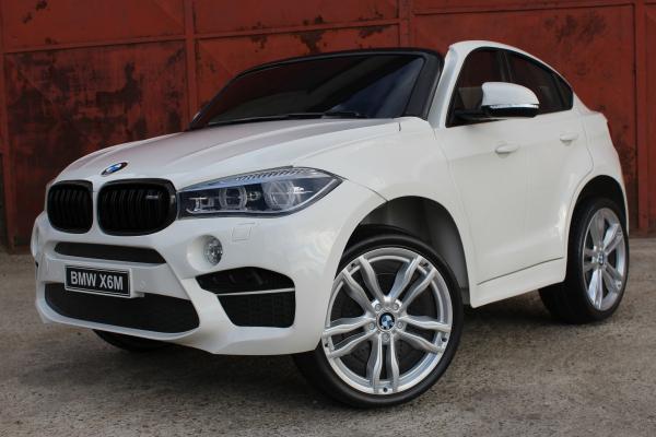 Masinuta electrica BMW X6M 12V XXL STANDARD #Alb 2