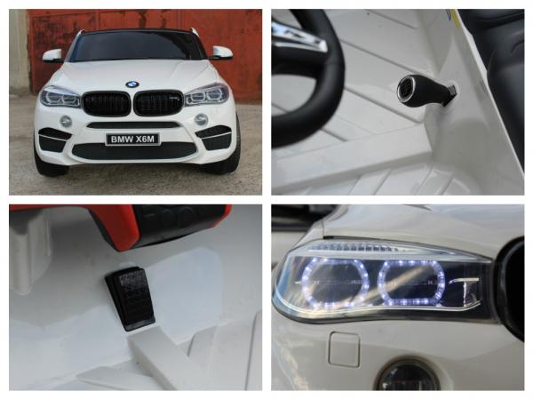 Masinuta electrica BMW X6M 12V XXL STANDARD #Alb 7