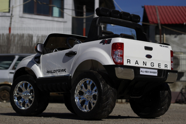 Masinuta electrica Ford Ranger 4x4 cu ROTI MOI 4x45W #ALB 5
