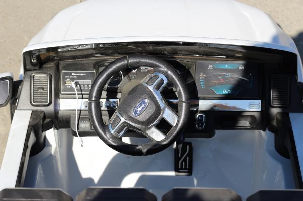 Masinuta electrica Ford Ranger 4x4 cu ROTI MOI 4x45W #ALB 6