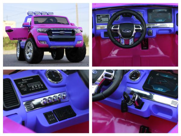 Masinuta electrica Ford Ranger 4x4 cu ROTI MOI 4x45W #Roz 9
