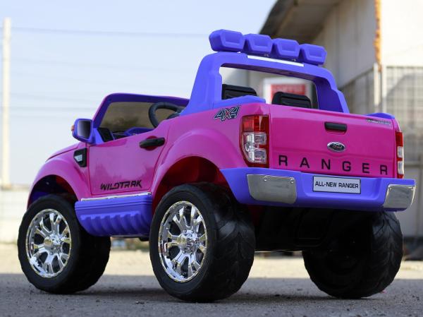 Masinuta electrica Ford Ranger 4x4 cu ROTI MOI 4x45W #Roz 5