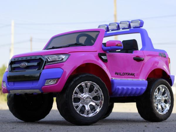 Masinuta electrica Ford Ranger 4x4 180W DELUXE #Roz 2