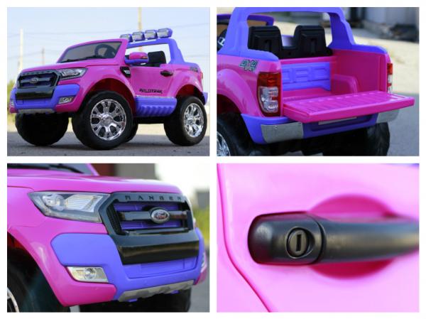Masinuta electrica Ford Ranger 4x4 cu ROTI MOI 4x45W #Roz 8