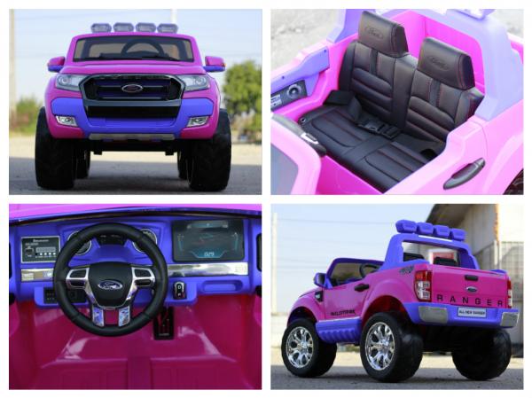Masinuta electrica Ford Ranger 4x4 cu ROTI MOI 4x45W #Roz 7