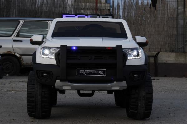 Masinuta electrica Ford Ranger F650 POLICE STANDARD 2x 35W 12V #Alb 1