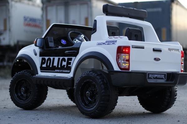 Masinuta electrica Ford Ranger F650 POLICE STANDARD 2x 35W 12V #Alb 5