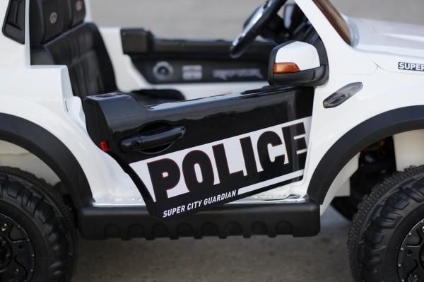 Masinuta electrica Ford Ranger F650 POLICE STANDARD 2x 35W 12V #Alb 3