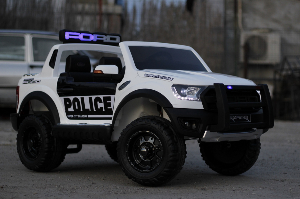 Masinuta electrica Ford Ranger F650 POLICE STANDARD 2x 35W 12V #Alb 2