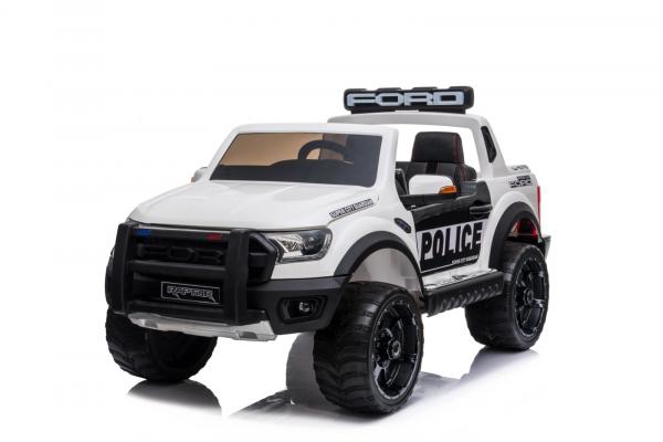 Masinuta electrica Ford Ranger F650 POLICE STANDARD 2x 35W 12V #Alb 0