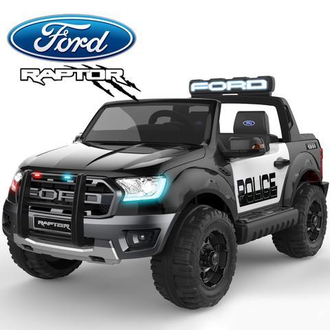 Masinuta electrica Ford Ranger F650 POLICE STANDARD 2x 35W 12V #Negru 0