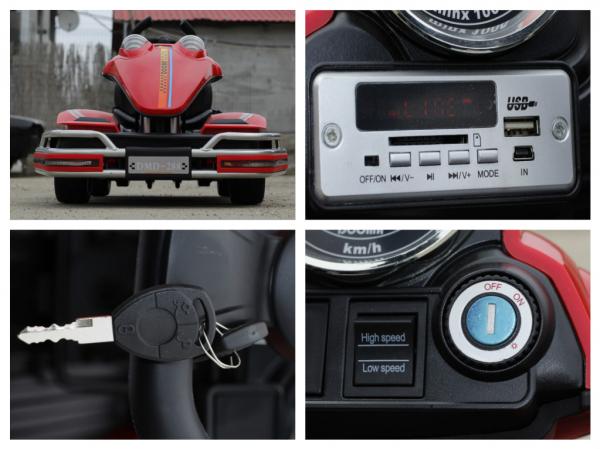 Kart electric Dooma GO! KART 2x 35W 12V STANDARD #Rosu 9