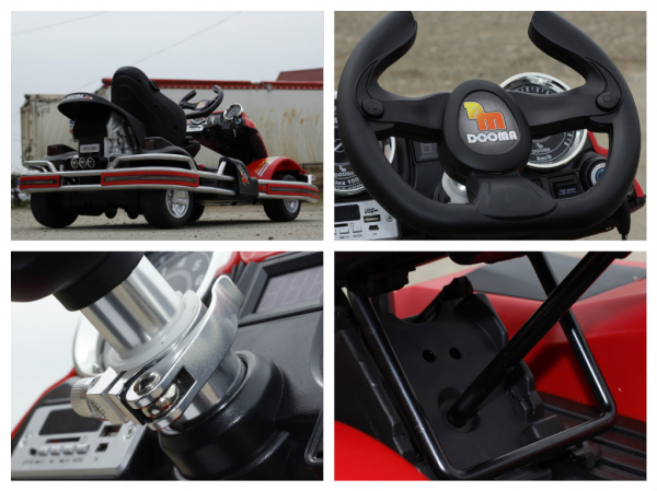 Kart electric Dooma GO! KART 2x 35W 12V STANDARD #Rosu 8