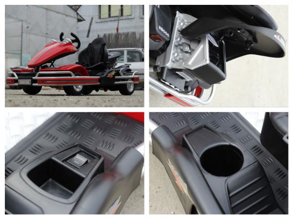 Kart electric Dooma GO! KART 2x 35W 12V STANDARD #Rosu 7