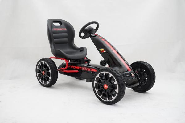Kinderauto GO Kart cu pedale de la Fiat Abarth #Negru 1