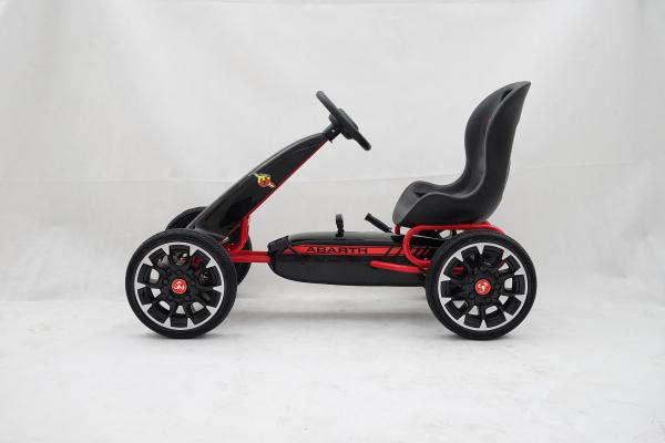 Kinderauto GO Kart cu pedale de la Fiat Abarth #Negru 3