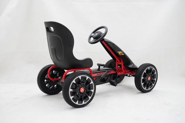 Kinderauto GO Kart cu pedale de la Fiat Abarth #Negru 2