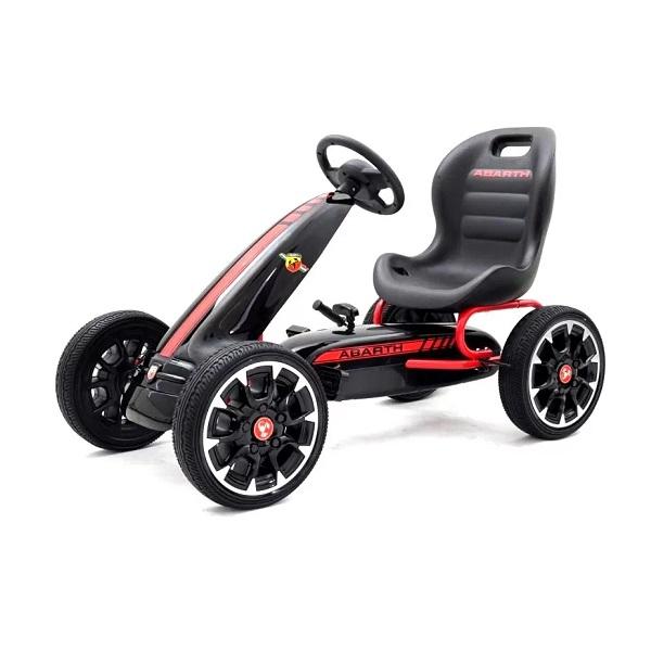 Kinderauto GO Kart cu pedale de la Fiat Abarth #Negru 0