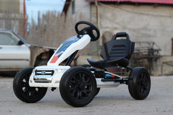Kinderauto GO Kart cu pedale de la FORD #Alb 4