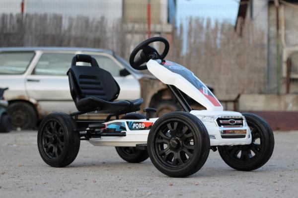 Kinderauto GO Kart cu pedale de la FORD #Alb 2
