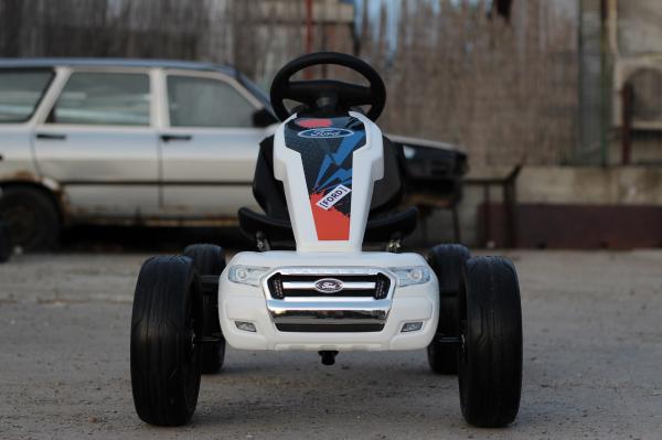 Kinderauto GO Kart cu pedale de la FORD #Alb 1