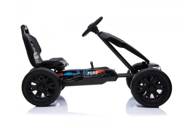 Kinderauto GO Kart cu pedale de la FORD #Negru 2