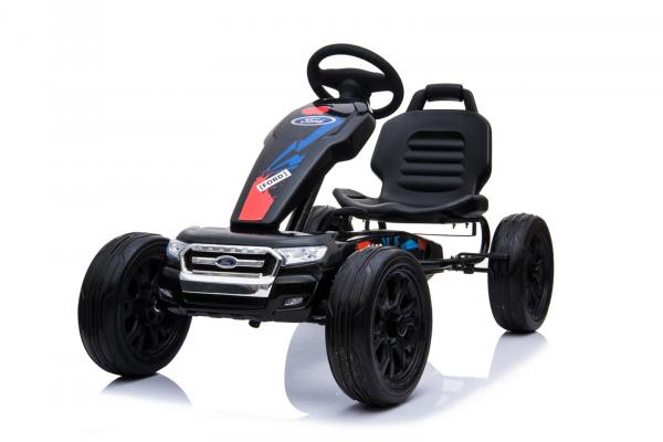 Kinderauto GO Kart cu pedale de la FORD #Negru 3