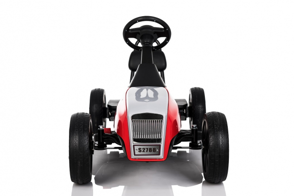 Kinderauto GO Kart electric S2788 RETRO #Rosu 1