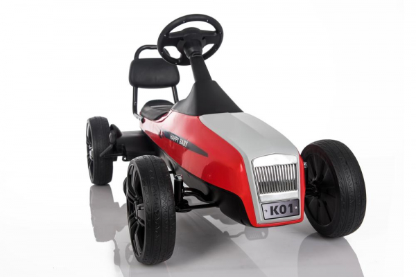 Kinderauto GO Kart electric S2788 RETRO #Rosu 22