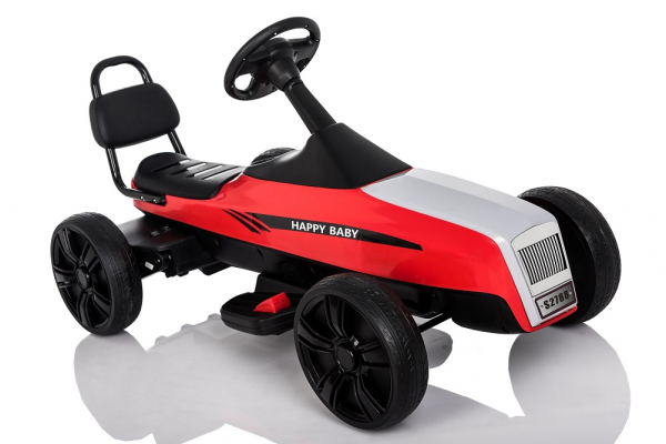 Kinderauto GO Kart electric S2788 RETRO #Rosu 8
