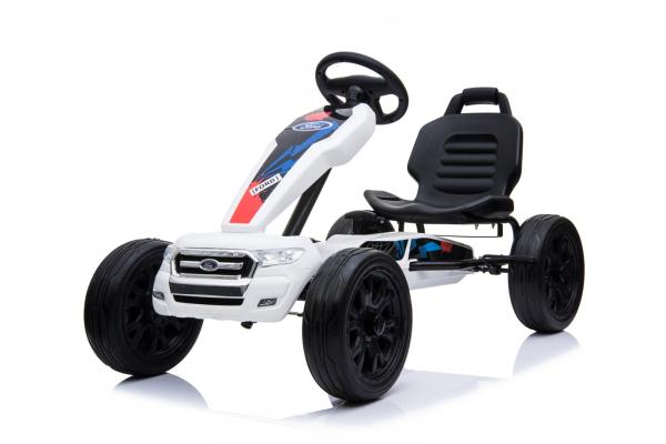 Kinderauto GO Kart cu pedale de la FORD #Alb 0