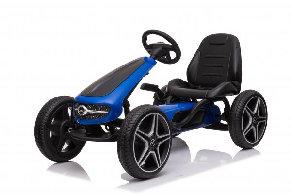 Kinderauto GO Kart cu pedale de la Mercedes #Albastru 0