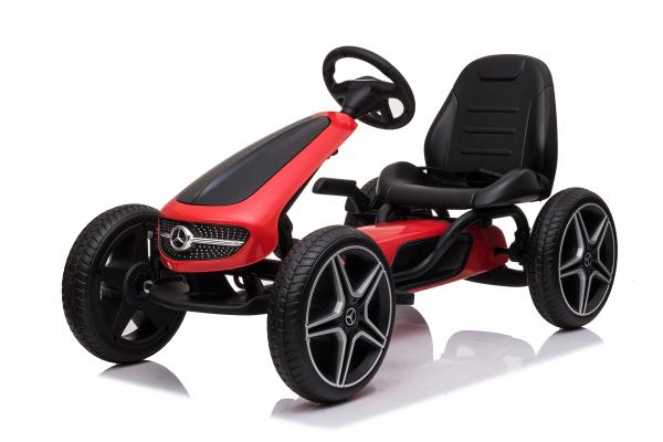 Kinderauto GO Kart cu pedale de la Mercedes #Rosu 0