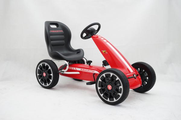 Kinderauto GO Kart cu pedale de la Fiat Abarth #Rosu 1