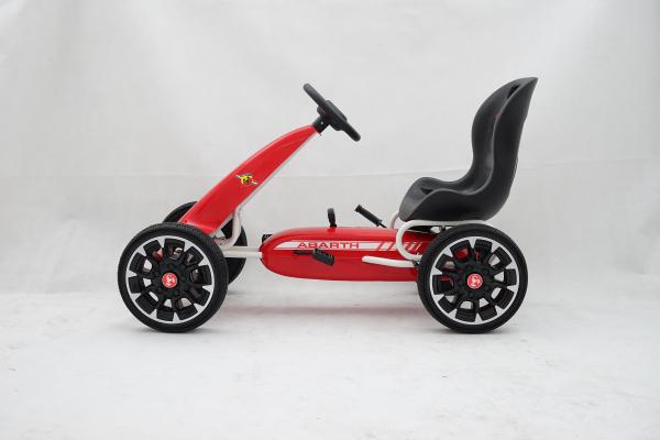 Kinderauto GO Kart cu pedale de la Fiat Abarth #Rosu 3