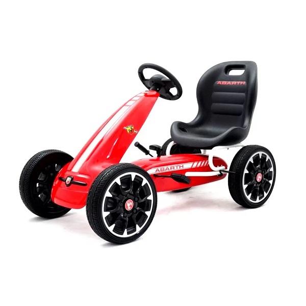 Kinderauto GO Kart cu pedale de la Fiat Abarth #Rosu 0