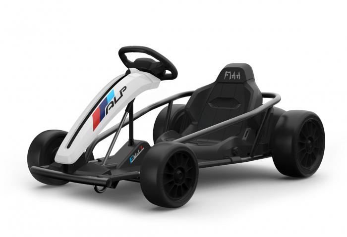 Kart electric copii SX1968, 500W, roti moi, alb [2]
