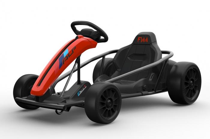 Go Kart electric pentru copii, 500W, roti moi, rosu [1]