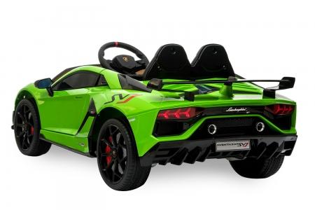 Masinuta electrica Lamborghini Aventador SVJ 70W 12V PREMIUM #Verde 1
