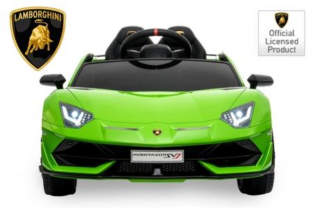 Masinuta electrica Lamborghini Aventador SVJ 70W 12V PREMIUM #Verde 3