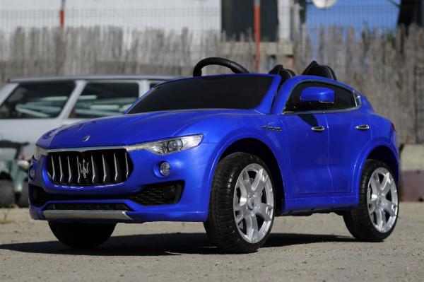 Masinuta electrica Maserati Levante 2x35W PREMIUM #Albastru 2