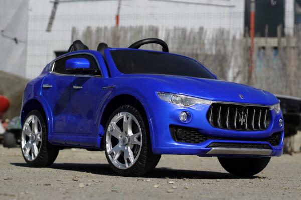 Masinuta electrica Maserati Levante 2x35W PREMIUM #Albastru 3