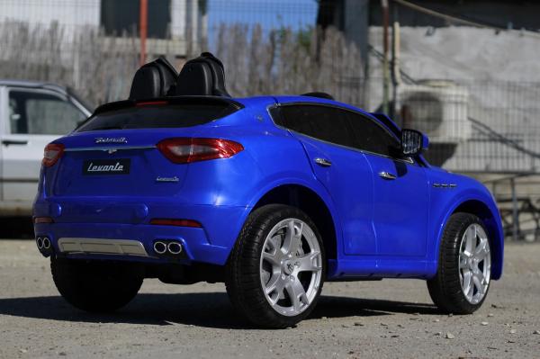 Masinuta electrica Maserati Levante 2x35W PREMIUM #Albastru 5