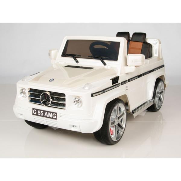 Masinuta electrica Mercedes G55 AMG 12V CU ROTI MOI #Alb 2